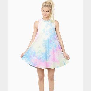 TOBI Tie Dye Foley Babydoll Dress